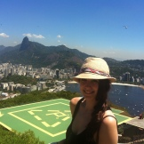With the Redeemer in the back (standing on top of the Sugar Loaf Mountain)